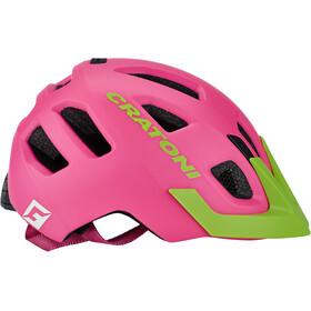 Cratoni Maxster Pro Kask rowerowy Dzieci, pink-lime matt